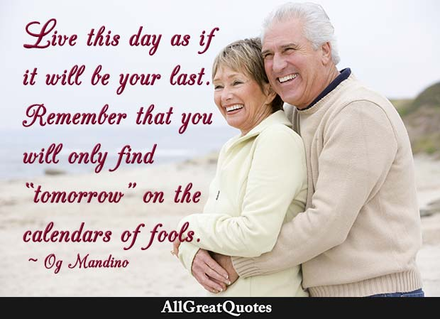 live this day quote - og mandino