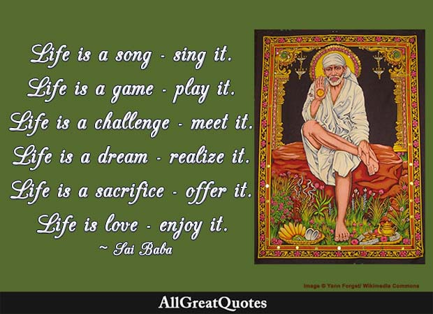 life is a song quote sai baba