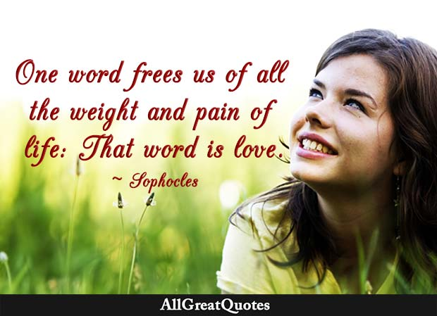 one word frees us sophocles