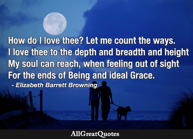 how do i love thee - elizabeth barrett browning