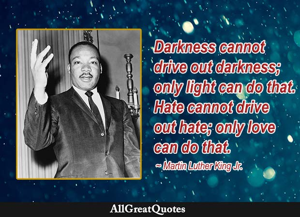 love hate quote - martin luther king jr