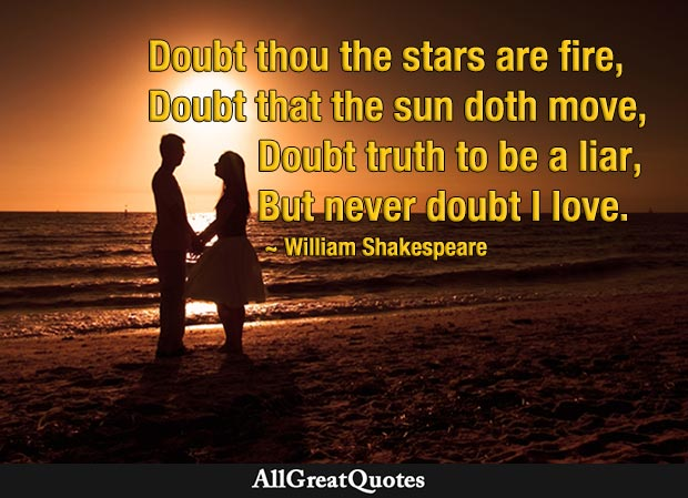 never doubt i love - shakespeare