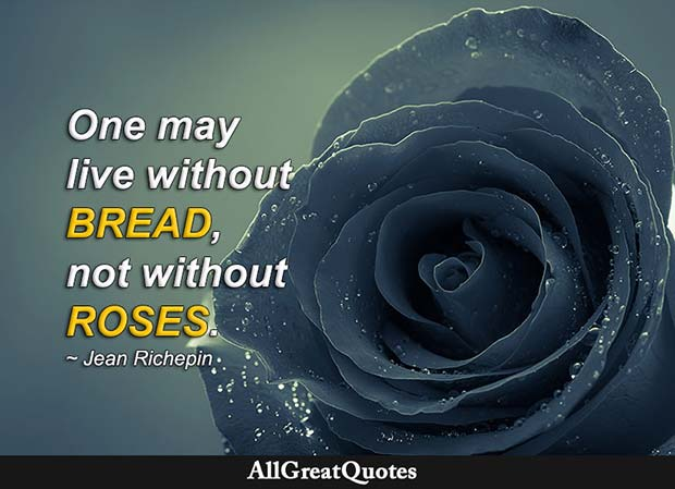 not without roses quote jean richepin